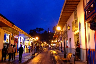 Salento Colombia streets night