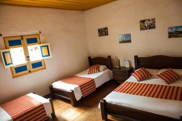 Quadruple Room Hostal Ciudad de Segorbe Salento Colombia